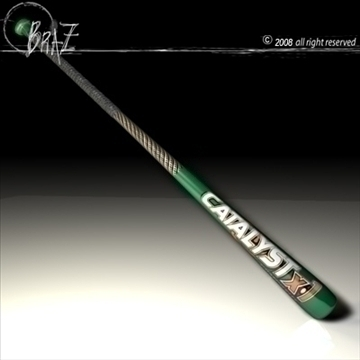 baseball bat 1 3d model 3ds dxf c4d obj 87145