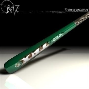 baseball bat 1 3d model 3ds dxf c4d obj 87147