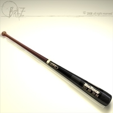 baseball bat 2 3d model 3ds dxf c4d obj 87816