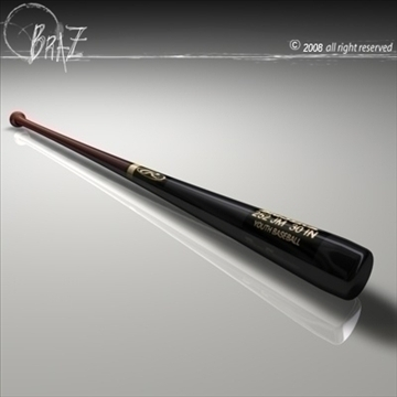 baseball bat 2 3d model 3ds dxf c4d obj 87818