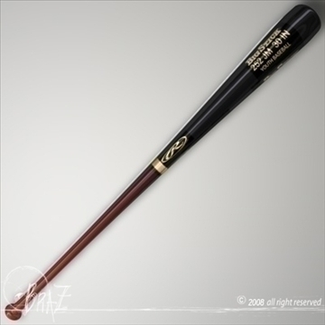 baseball bat 2 3d model 3ds dxf c4d obj 87819
