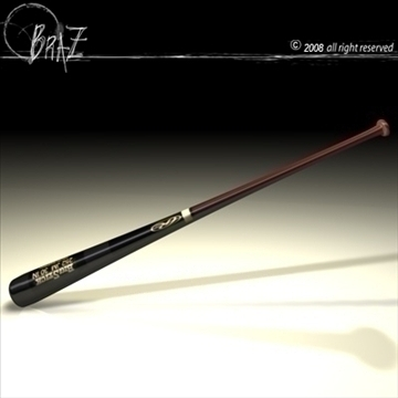 baseball bat 2 3d model 3ds dxf c4d obj 87822