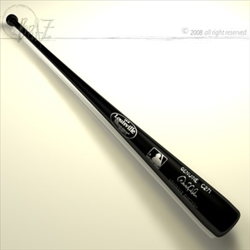 baseball bat 3 3d model 3ds dxf c4d obj 87810