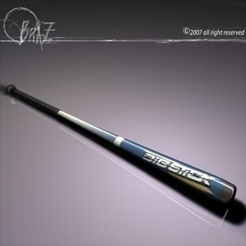 baseball bat 3d model 3ds dxf c4d obj 109163
