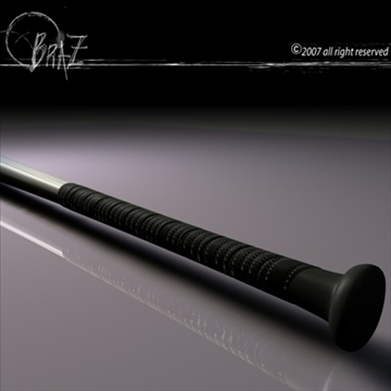 baseball bat 3d model 3ds dxf c4d obj 109164