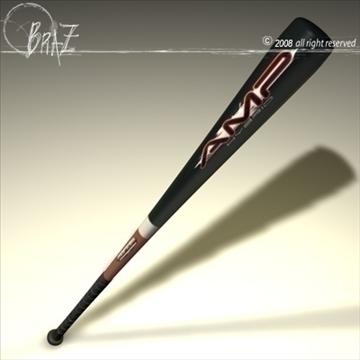 baseball bat 5 3d model 3ds dxf c4d obj 87807