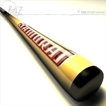 baseball bat 6 3d model 3ds dxf c4d obj 109506