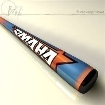baseball bat 7 3d model 3ds dxf c4d obj 87825