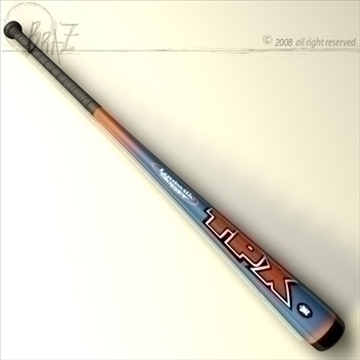 baseball bat 7 3d model 3ds dxf c4d obj 87826