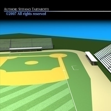 baseball field 3d model 3ds dxf c4d obj 85544
