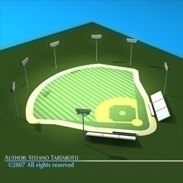 baseball field 3d model 3ds dxf c4d obj 85545