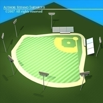 baseball field 3d model 3ds dxf c4d obj 85546