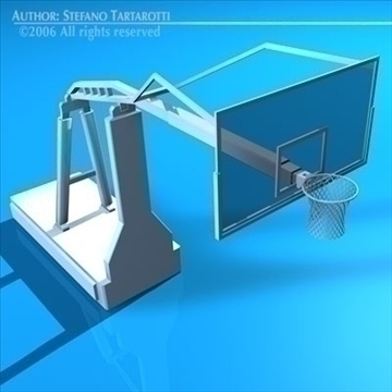 basketball hoop 3d model 3ds dxf c4d obj 82302