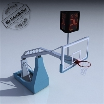 basketbol rim 04. 3d model 3ds max c4d ma mb obj digər 94867