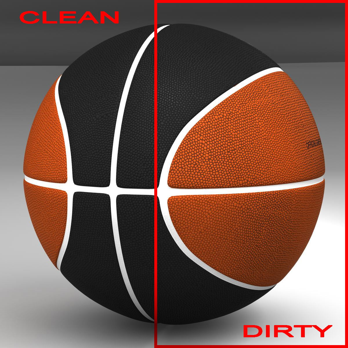 bicolor basketball ball 3d modelo 3ds max fbx c4d ma mb XJUMX