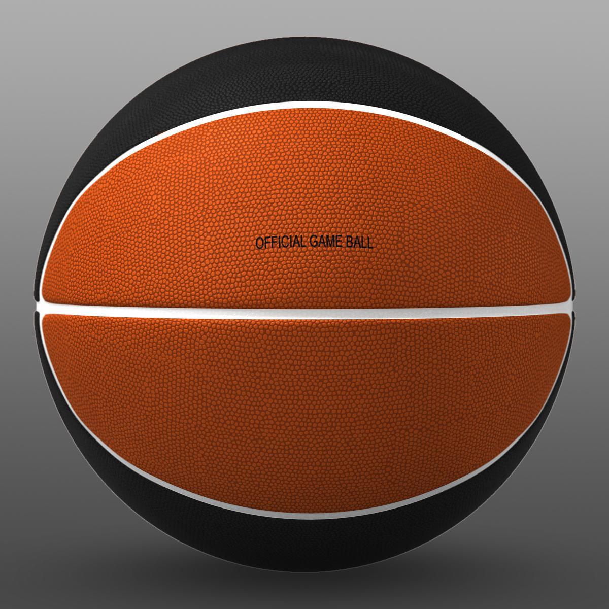 bicolor basketball ball 3d model 3ds max fbx c4d ma mb obj 164737