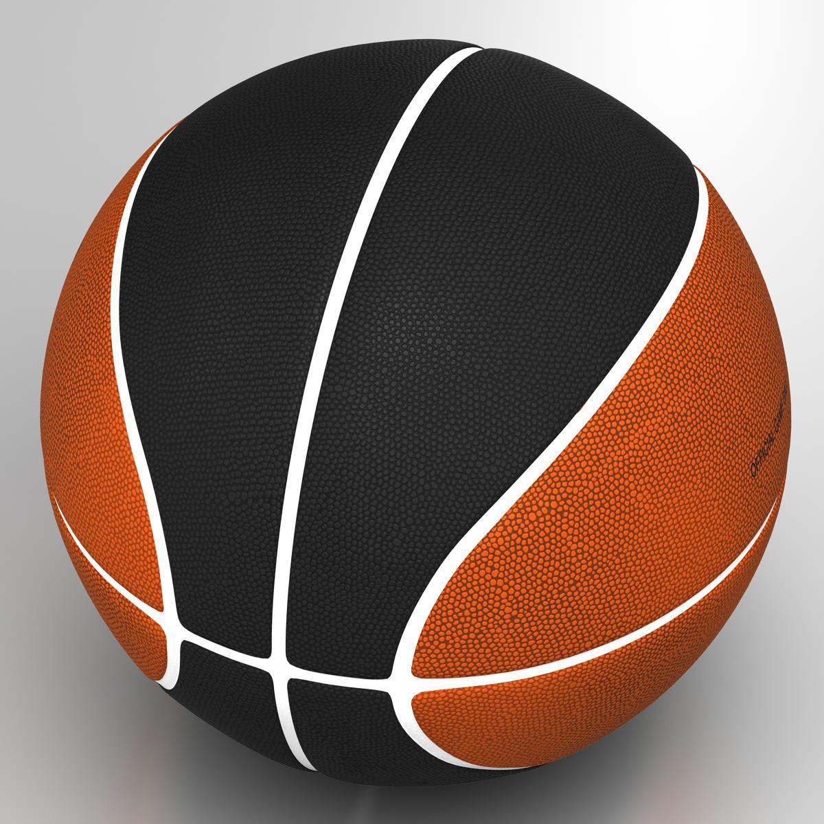bicolor basketball ball 3d model 3ds max fbx c4d ma mb obj 164738