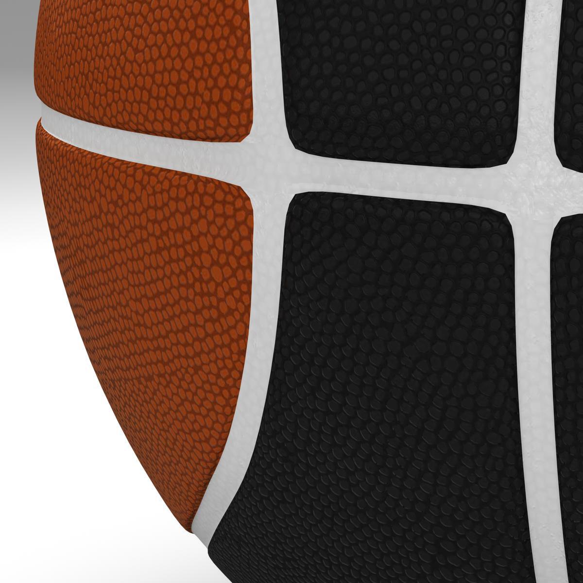 bicolor basketball ball 3d model 3ds max fbx c4d ma mb obj 164742