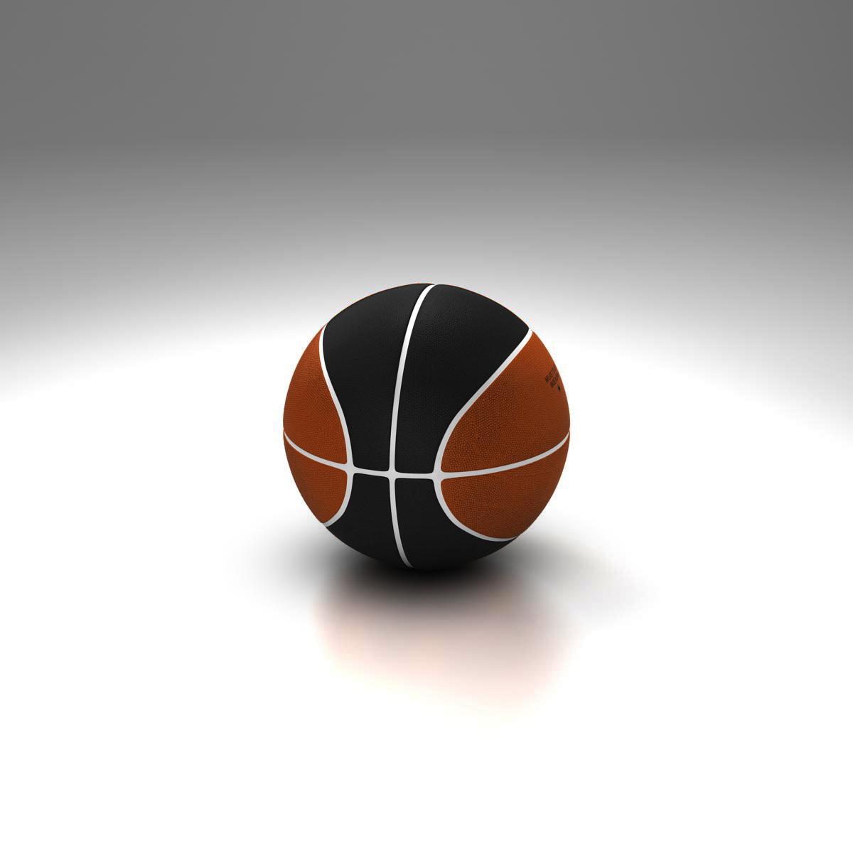 bicolor basketball ball 3d model 3ds max fbx c4d ma mb obj 164743