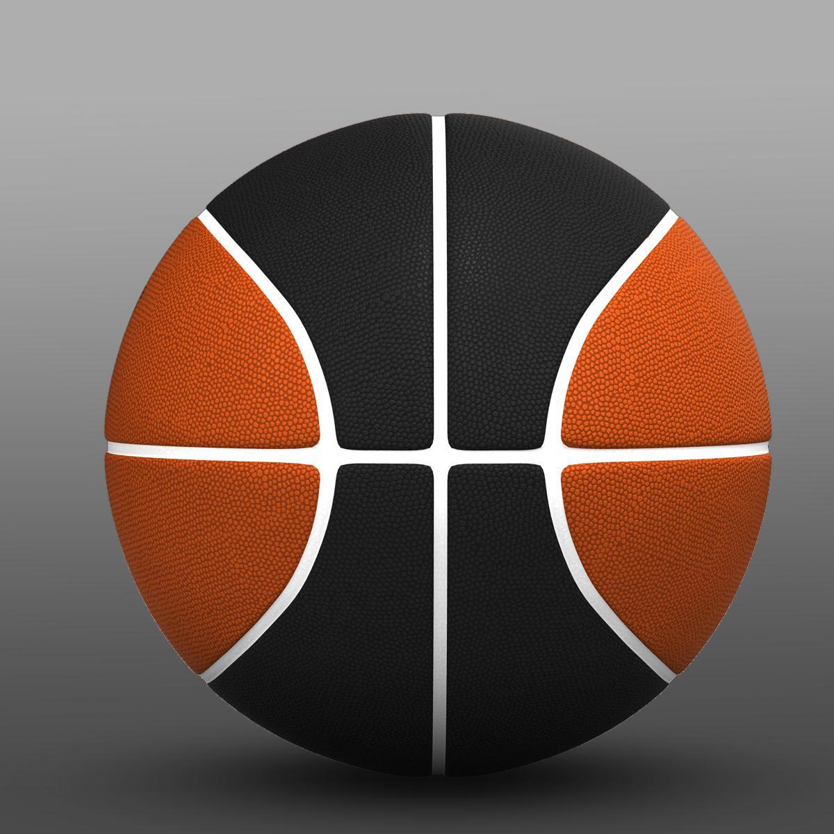 bicolor basketball ball 3d model 3ds max fbx c4d ma mb obj 164744