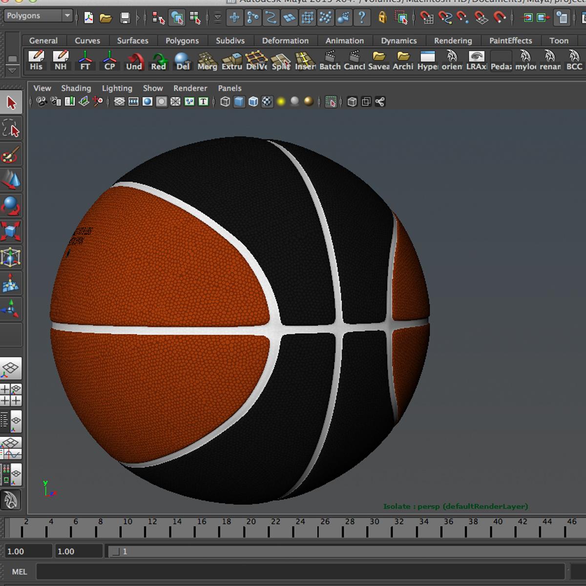 bicolor basketball ball 3d model 3ds max fbx c4d ma mb obj 164745
