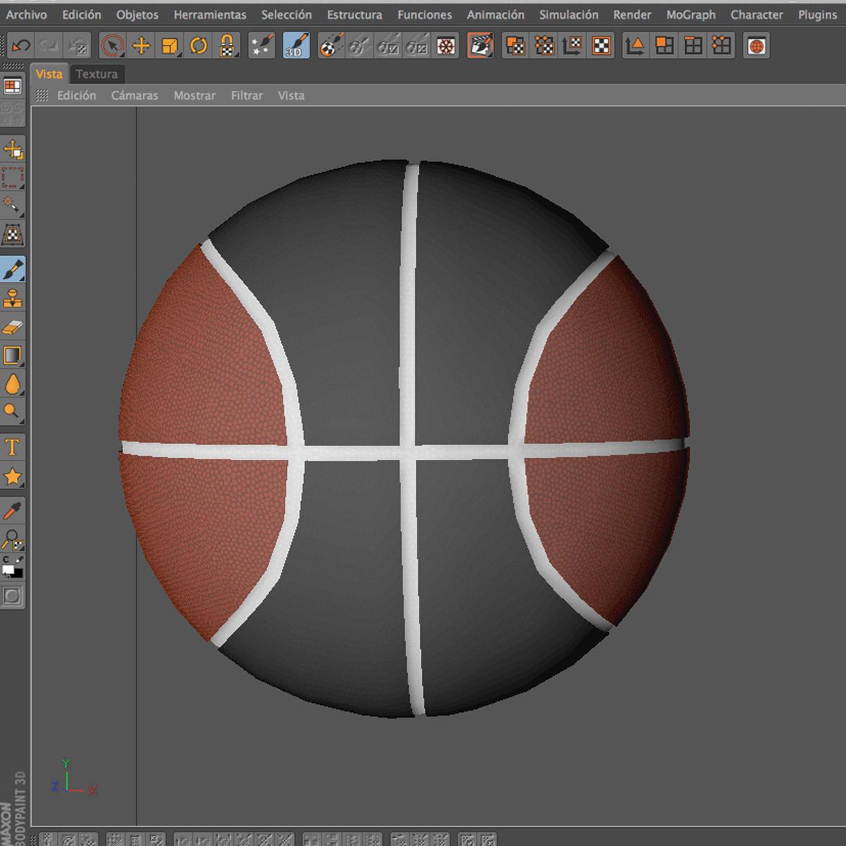 bicolor basketball ball 3d model 3ds max fbx c4d ma mb obj 164746