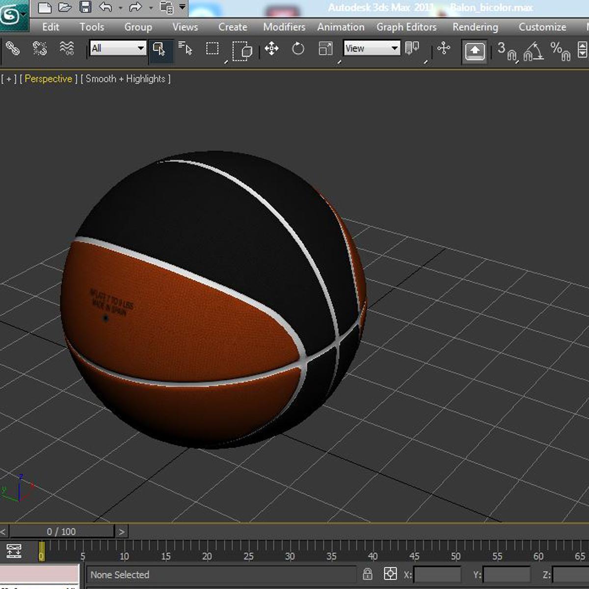 bicolor basketball ball 3d model 3ds max fbx c4d ma mb obj 164747