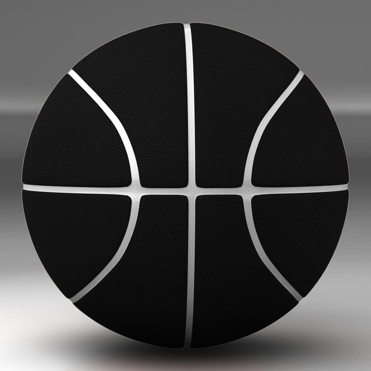 black basketball ball 3d model 3ds max fbx c4d ma mb obj 164931