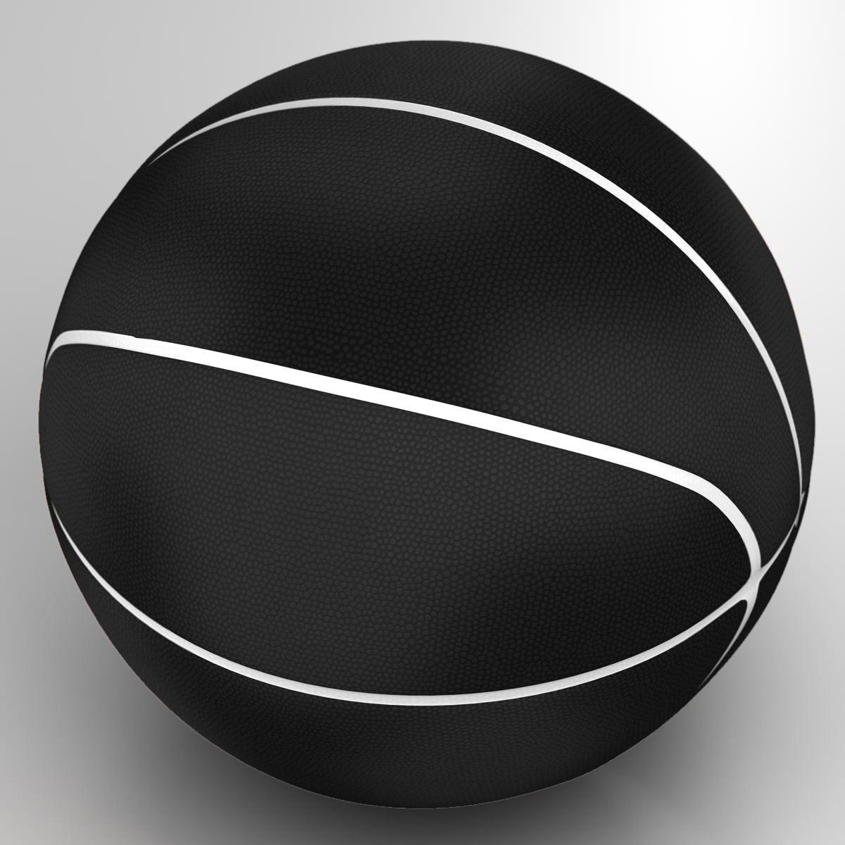 black basketball ball 3d model 3ds max fbx c4d ma mb obj 164932