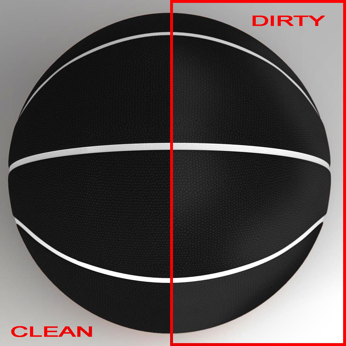 black basketball ball 3d model 3ds max fbx c4d ma mb obj 164933