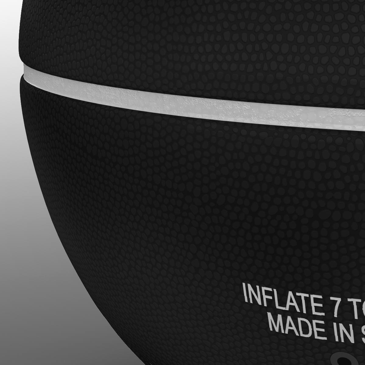 black basketball ball 3d model 3ds max fbx c4d ma mb obj 164936