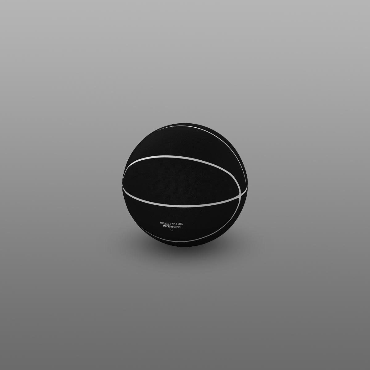 black basketball ball 3d model 3ds max fbx c4d ma mb obj 164937