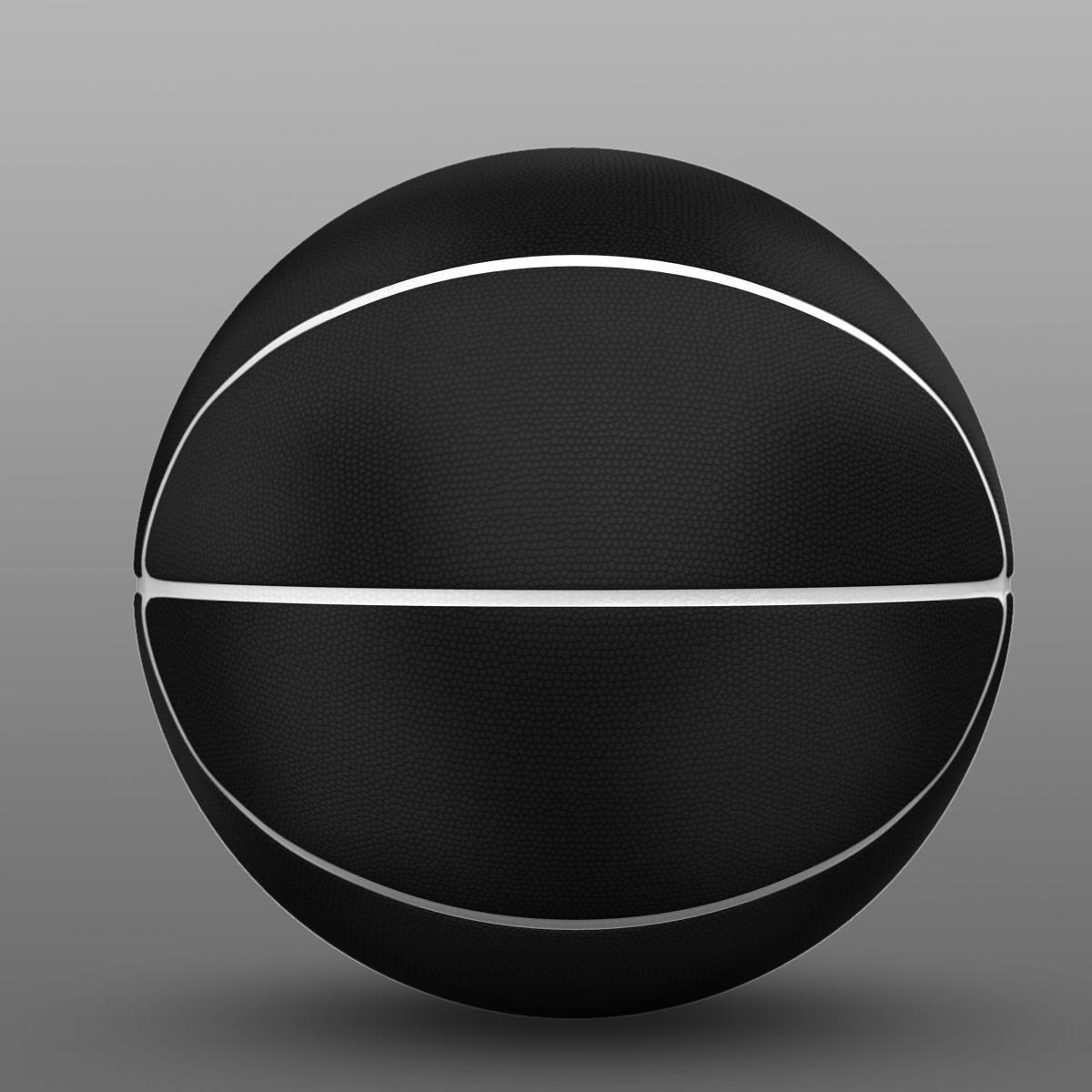 black basketball ball 3d model 3ds max fbx c4d ma mb obj 164938