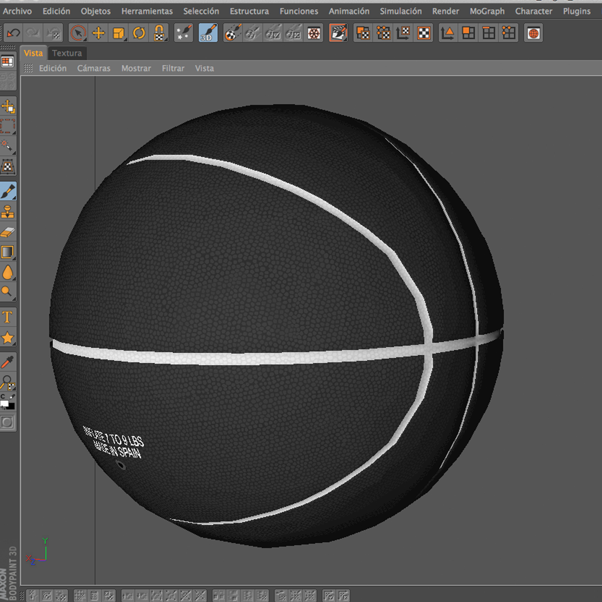 black basketball ball 3d model 3ds max fbx c4d ma mb obj 164940