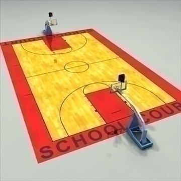 high school basketball court. 3d model 3ds max c4d ma mb other pz3 pp2 obj 94947