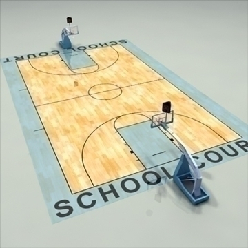 high school basketball court. 3d model 3ds max c4d ma mb other pz3 pp2 obj 94949