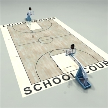 high school basketball court. 3d model 3ds max c4d ma mb other pz3 pp2 obj 94950