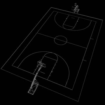 high school basketball court. 3d model 3ds max c4d ma mb other pz3 pp2 obj 94955