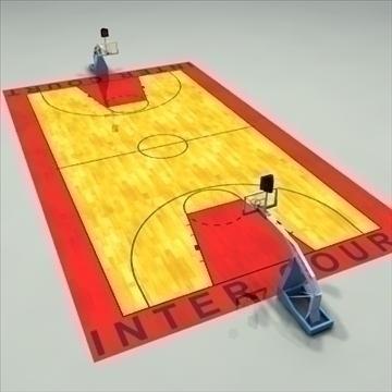international official basketball court. 3d model 3ds max c4d ma mb other pz3 pp2 obj 94957