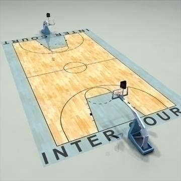 international official basketball court. 3d model 3ds max c4d ma mb other pz3 pp2 obj 94959