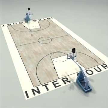 international official basketball court. 3d model 3ds max c4d ma mb other pz3 pp2 obj 94960
