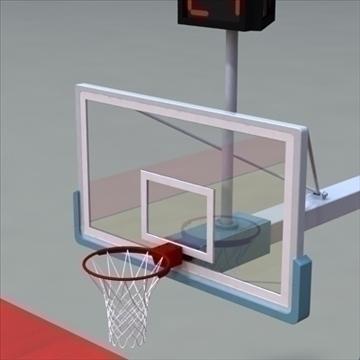 international official basketball court. 3d model 3ds max c4d ma mb other pz3 pp2 obj 94961