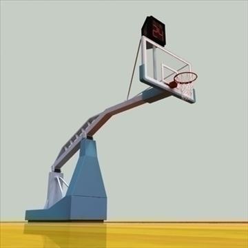 international official basketball court. 3d model 3ds max c4d ma mb other pz3 pp2 obj 94963