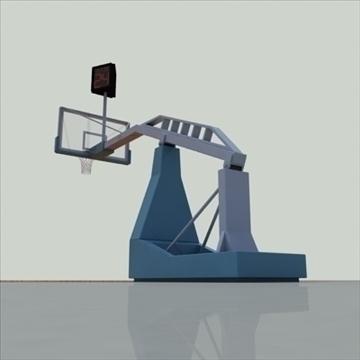 international official basketball court. 3d model 3ds max c4d ma mb other pz3 pp2 obj 94964