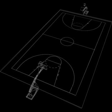 international official basketball court. 3d model 3ds max c4d ma mb other pz3 pp2 obj 94965