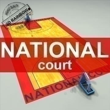 national official basketball court. 3d model 3ds max c4d ma mb other pz3 pp2 obj 94966