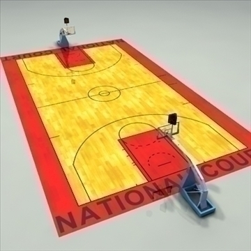 national official basketball court. 3d model 3ds max c4d ma mb other pz3 pp2 obj 94967