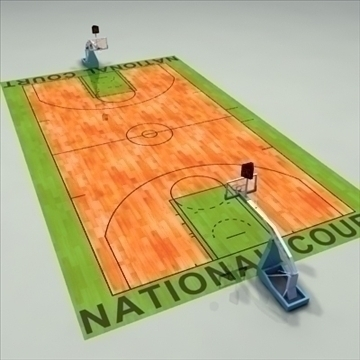national official basketball court. 3d model 3ds max c4d ma mb other pz3 pp2 obj 94968