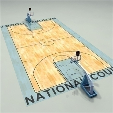 national official basketball court. 3d model 3ds max c4d ma mb other pz3 pp2 obj 94969