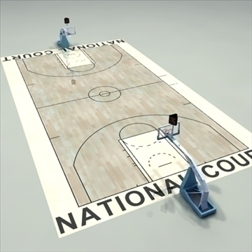 national official basketball court. 3d model 3ds max c4d ma mb other pz3 pp2 obj 94970